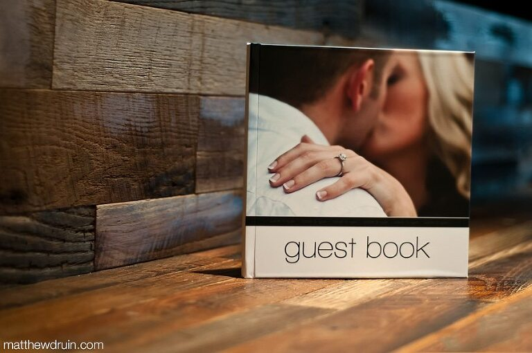 Custom made engagement photo wedding guest books from Atlanta wedding Photographers Matthew Druin + Co.