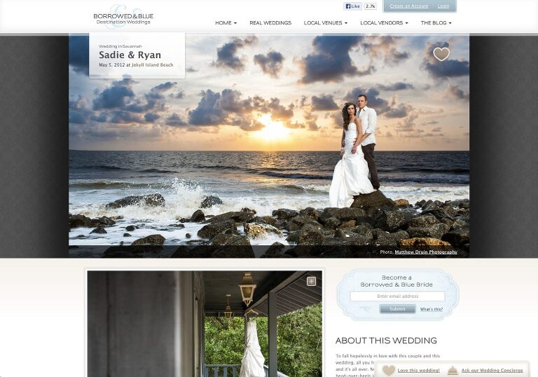 Featured In: Borrowed & Blue Weddings Jekyll Island Summer Wedding