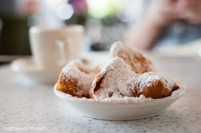 Beignets from Cafe Du Monde in French Quarter New Orleans matthewdruin.com