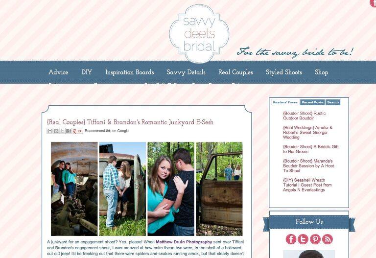 Featured In: Savvy Deets Bridal Atlanta Junkyard Engagement