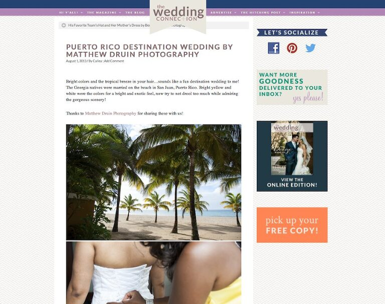 Featured In: The Wedding Connection Destination Wedding Puerto Rico