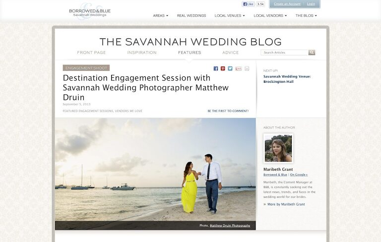 destination engagement session in St. Croix Virgin Islands feature Savannah wedding blog from Atlanta wedding photographers Matthew Druin + Co.
