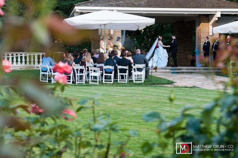 Bride and groom at alter at wedding ceremony at Villa Christina from Atlanta wedding photographers Matthew Druin + Co Photography