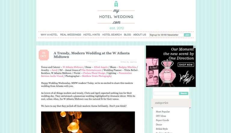 Featured In: My Hotel Wedding Atlanta W Hotel Midtown