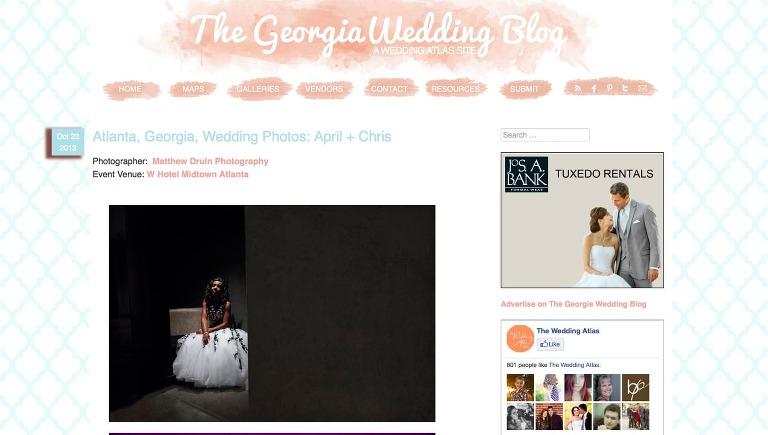 Featured In: Georgia Wedding Blog W Hotel Atlanta Wedding