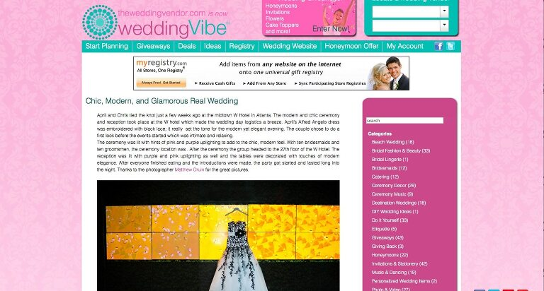 Featured In: Vibe Wedding A W Hotel Wedding In Atlanta