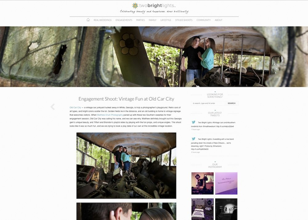 Featured In: Two Bright Lights An Atlanta Junkyard Engagement