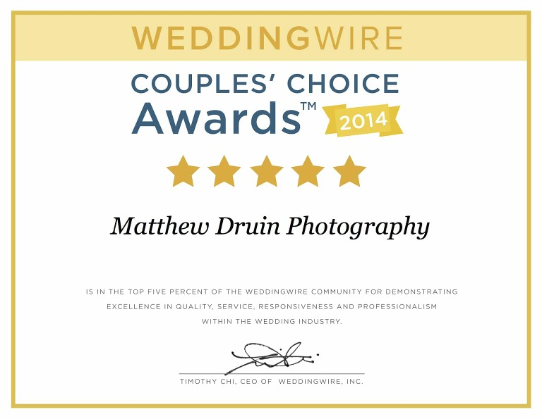 Award Winning Atlanta Wedding Photographers Brides Choice Award 2014!