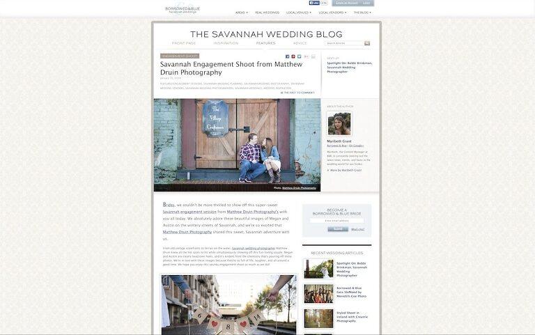 Featured In: Borrowed & Blue Savannah Weddings