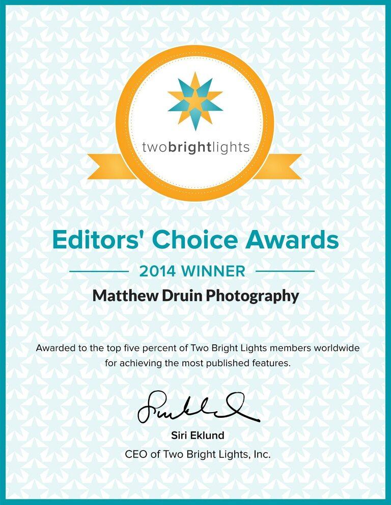 Award winning photographer Matt Druin 2014 Editors Choice Awards Winner For Atlanta Weddings