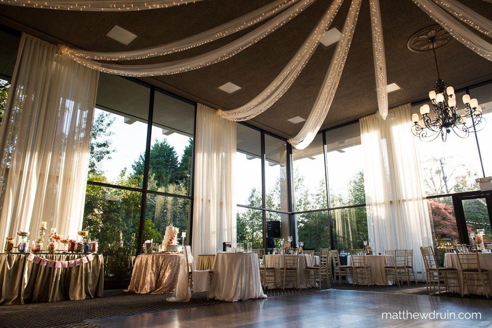 Atlanta Wedding Venue The Atrium Reception Setup In Norcross Review