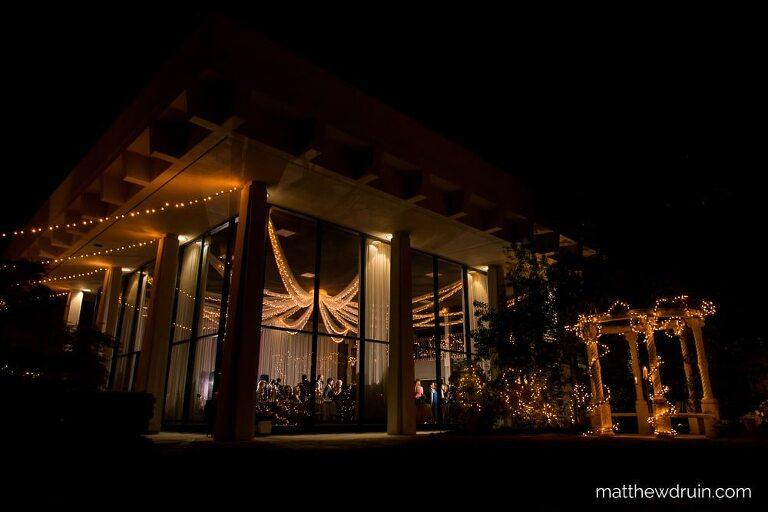 Night photo of Atlanta Wedding Venue The Atrium In Norcross Review