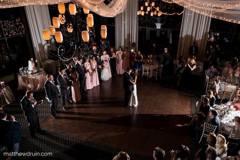 Bride and groom dancing at reception at Atlanta Wedding Venue The Atrium In Norcross Review