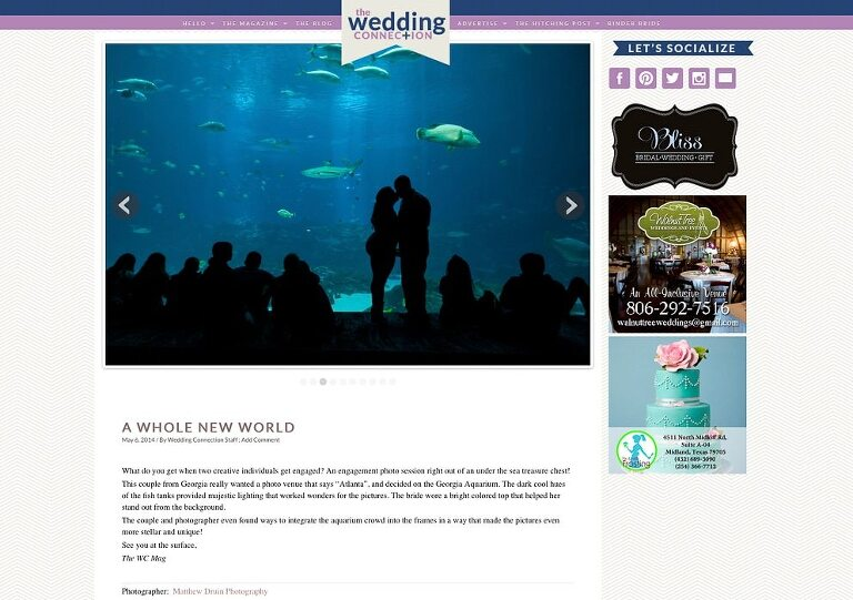 Featured In: Wedding connection Engaged Georgia Aquarium Atlanta