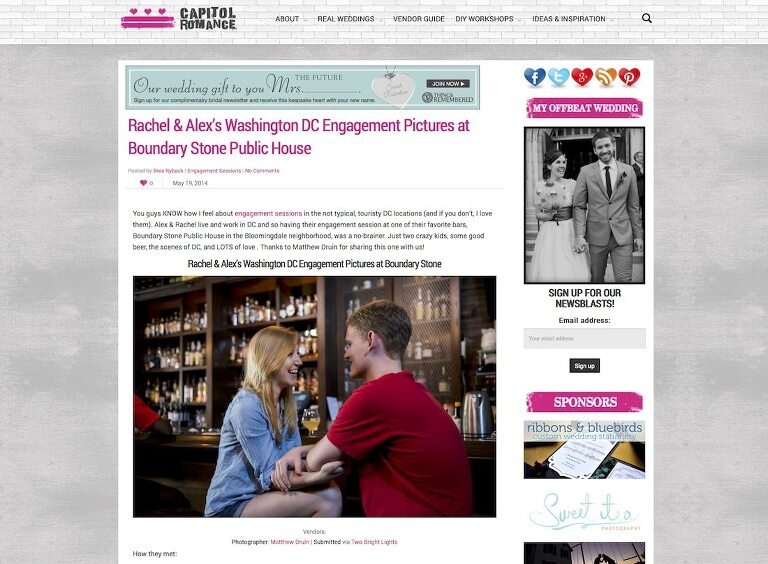 Featured In: Capital Romance   Washington DC Engagement