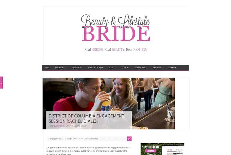 Featured In: Beauty & Lifestyle Bride - Engaged In DC