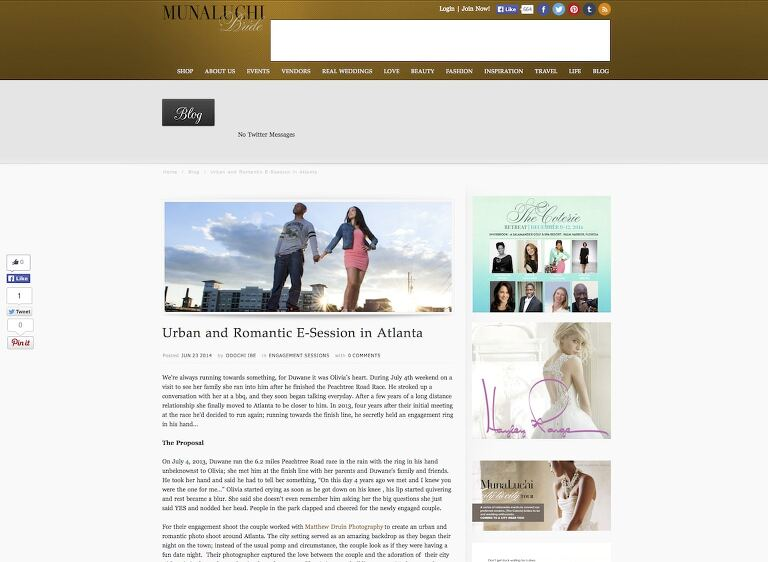Featured In: Munaluchi Bride Atlanta Urban Engagement