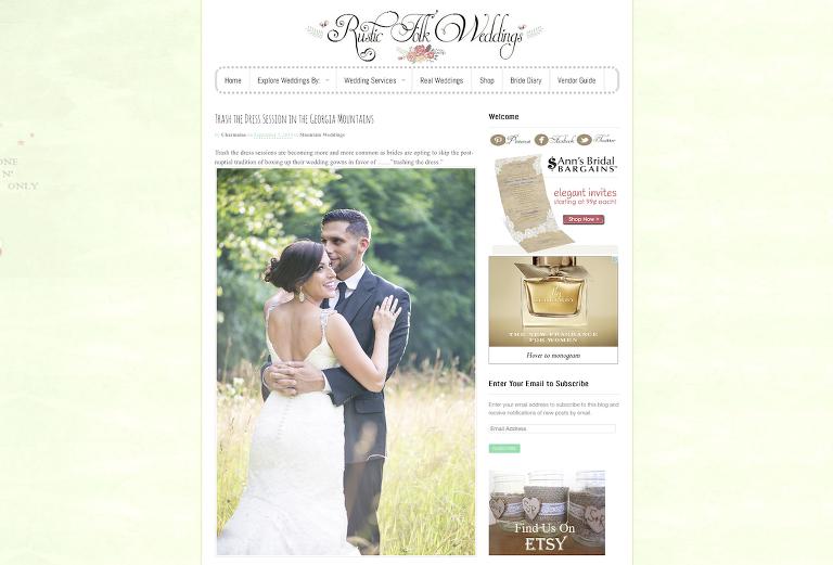 Atlanta trash the wedding dress Rustic Folk Weddings