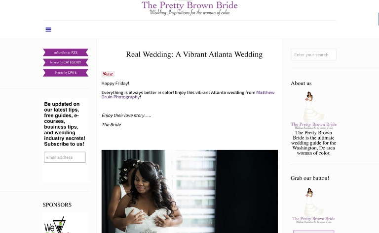 Featured on Pretty Brown Bride at The Atrium for their CMYK color themed Atlanta wedding
