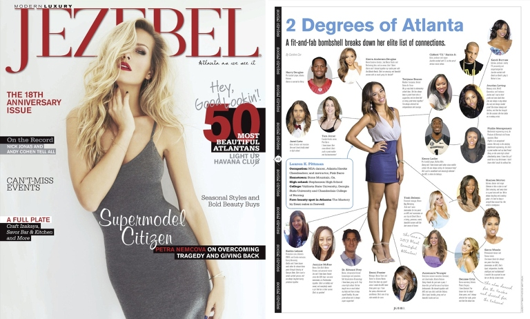Atlanta Hawks Cheerleader NBA Lauren Pittman For Jezebel Magazine spread