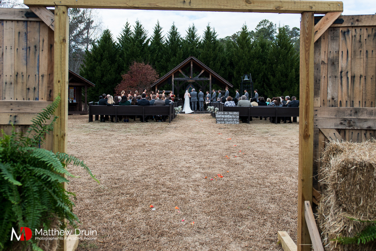Wedding ceremony at Atlanta Wedding Venue Proctor Farm In Georgia Review