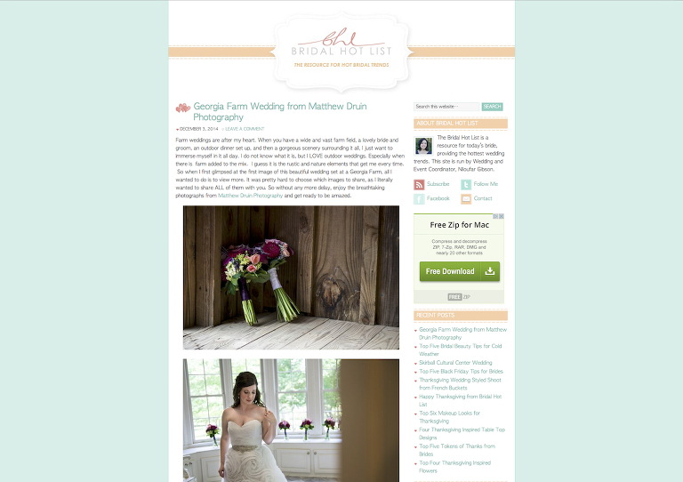 Atlanta Wedding Photographers Featured Brideal Hot List