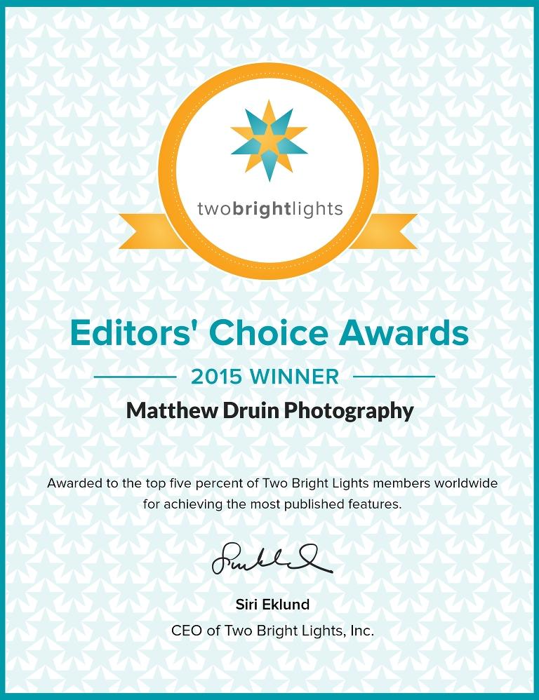 two bright lights editors' choice 2015 winner
