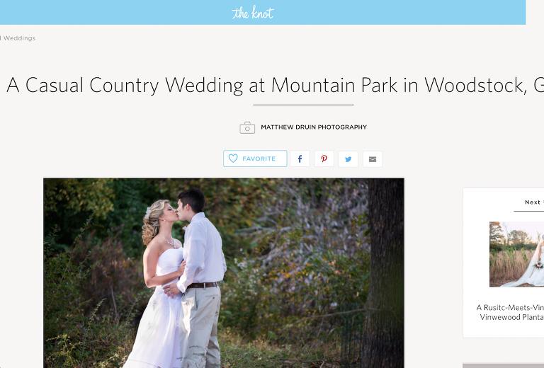 rustic country Atlanta wedding