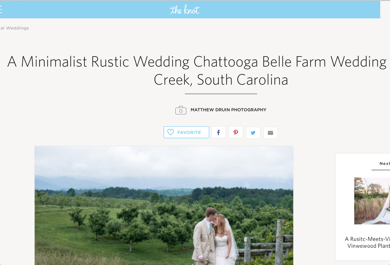 Featured: The Knot Weddings South Carolina Wedding Published