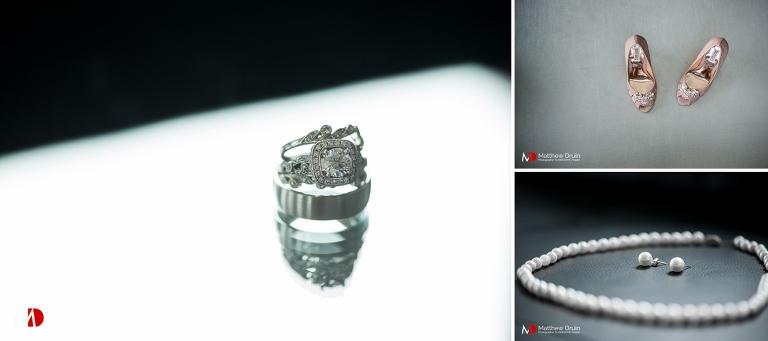Bride's wedding ring and jewelry from Atlanta wedding photographer Matthew Druin & Co.