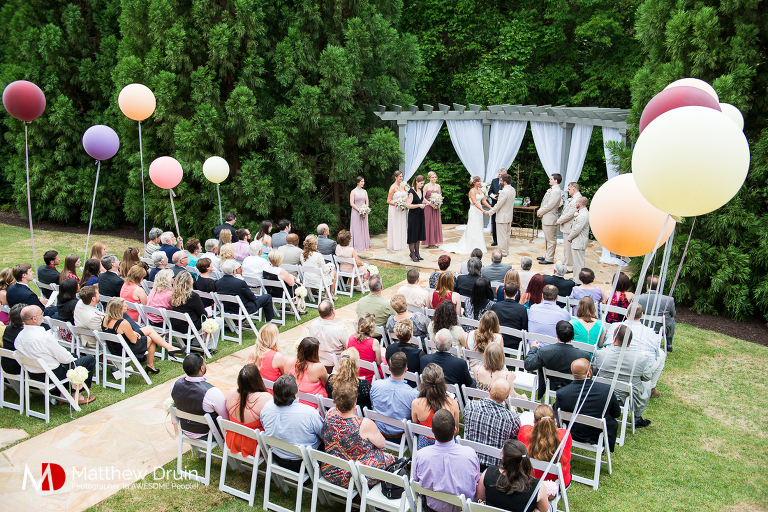Bride and groom at alter at Venue 92 from Atlanta wedding photographers Matthew Druin & Co.