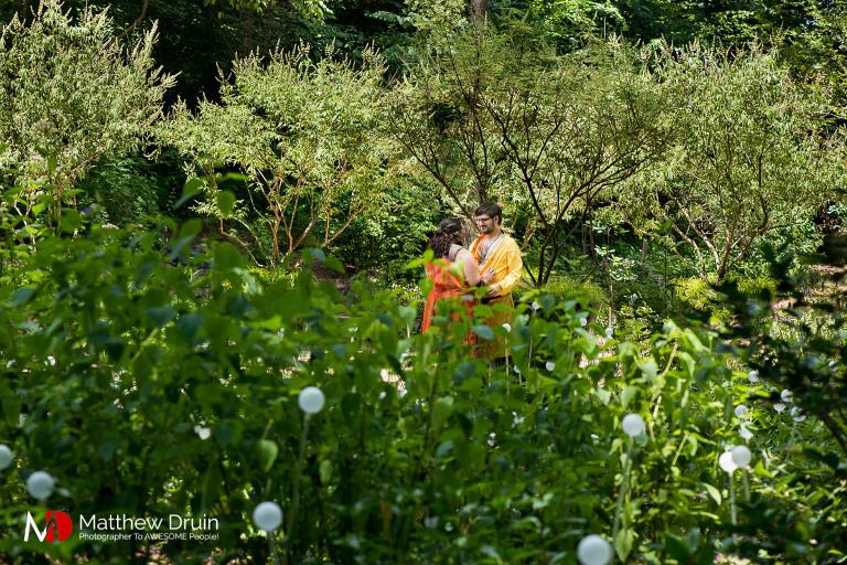 An amazingly nerdy Game of Thrones cosplay Atlanta engagement session at Botanical Gardens from Atlanta wedding photographers Matthew Druin + Co.