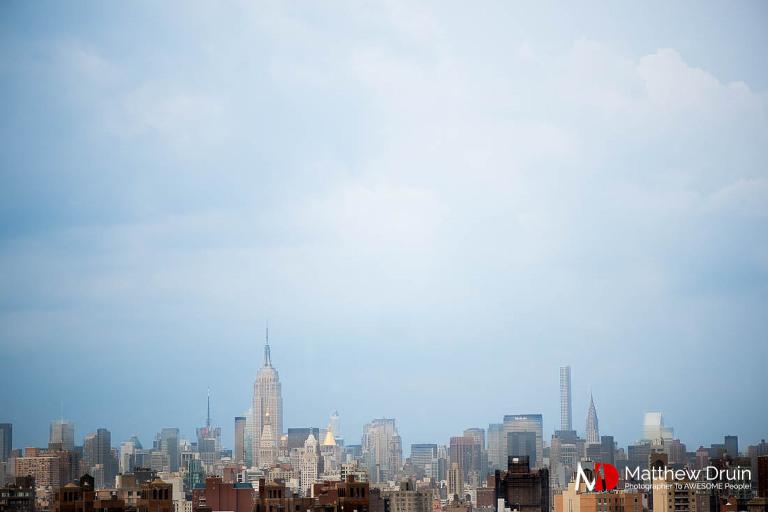 New York City skyline from Brooklyn during a recent trip from Atlanta wedding and portrait photographer Matt Druin.