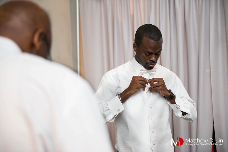 Groom getting ready at Venue 92 in Woodstock, GA from Atlanta wedding photographers Matthew Druin + Co