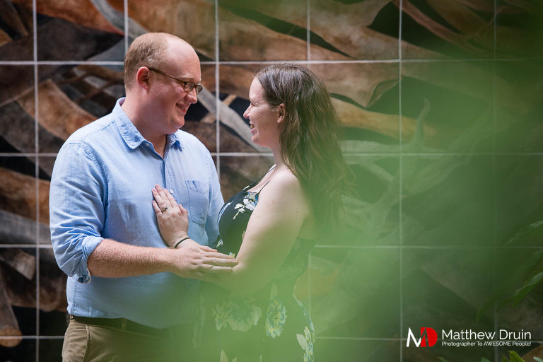 Couple at NFU at destination Florida engagement session in Jacksonville from Atlanta wedding photographers Matthew Druin + Co.
