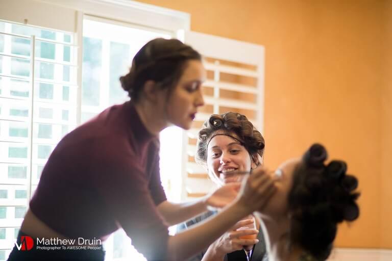 Bride getting ready at Summerour for Atlanta wedding from Atlanta wedding photographers Matthew Druin + Co Photography.
