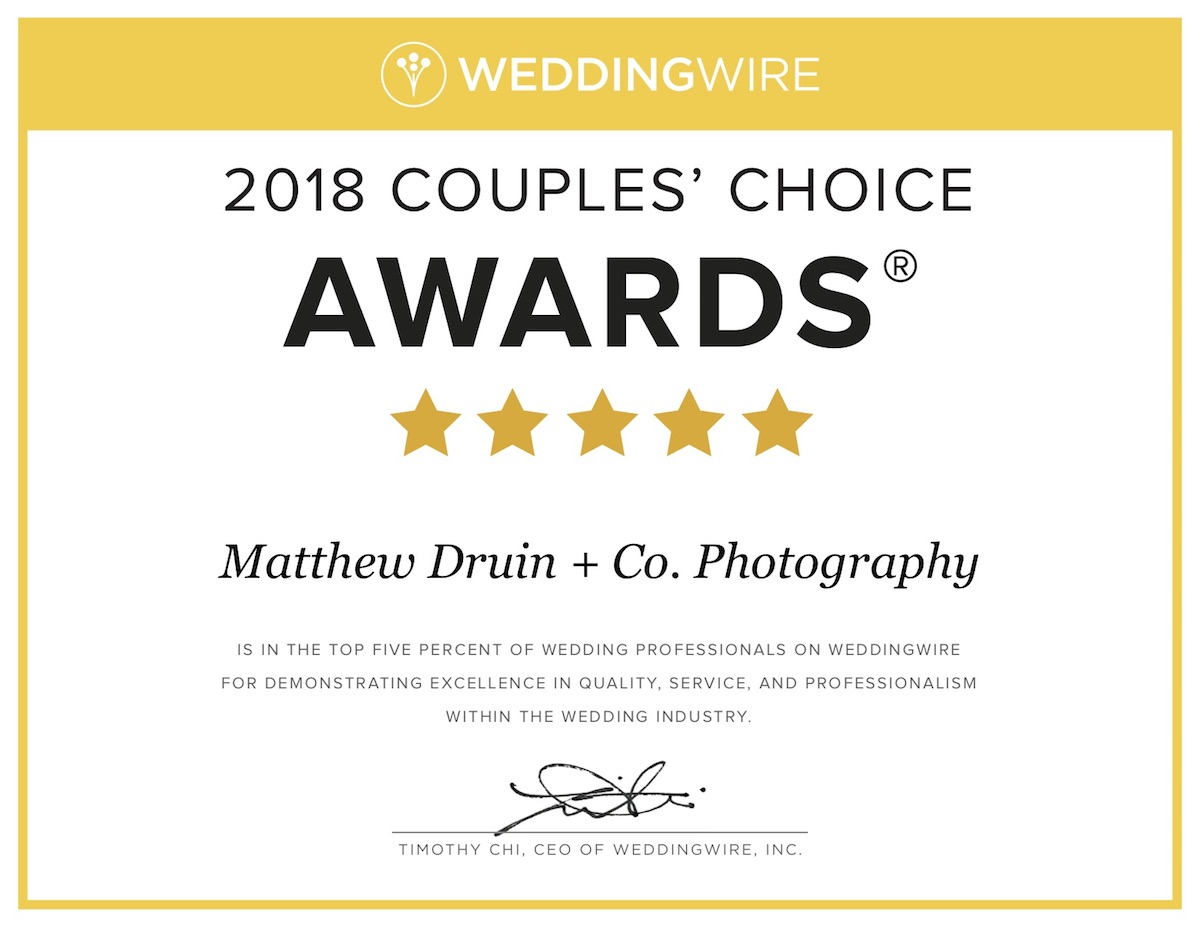 Atlanta Weddingwire Award Couples\' Choice 2018!