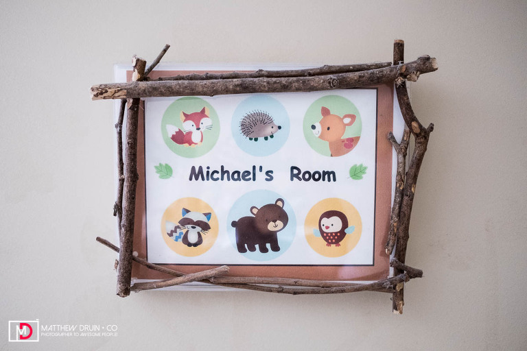 Micheal's Room sign art hanging on wall in Mikey Warechowski who lives with Metachromatic Leukodystrophy (MLD)