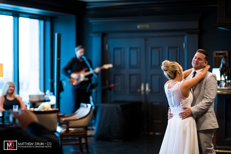 Bride and Groom first dance at The Peachtree Club Atlanta wedding